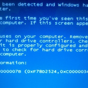 Синий экран смерти при установке Windows XP