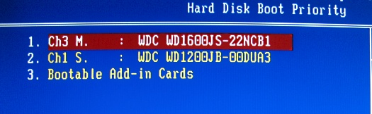 hard disk boot priority скрин