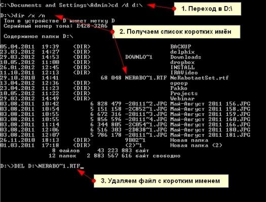 api как узнать имена файлов в каталоге: